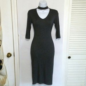 POPULAR BASICS Gray Bodycon Dress Size S